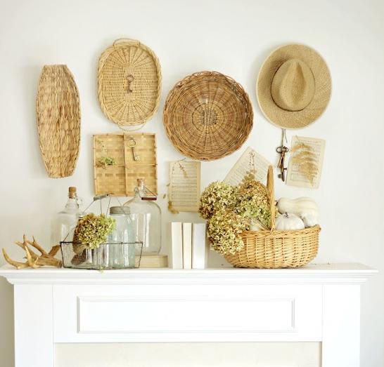 pared ideapared sombreros rstico diy decorar reciclar