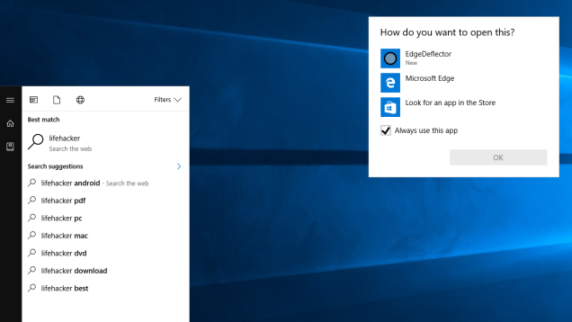 EdgeDeflector Forces Cortana to Use Your Default Web