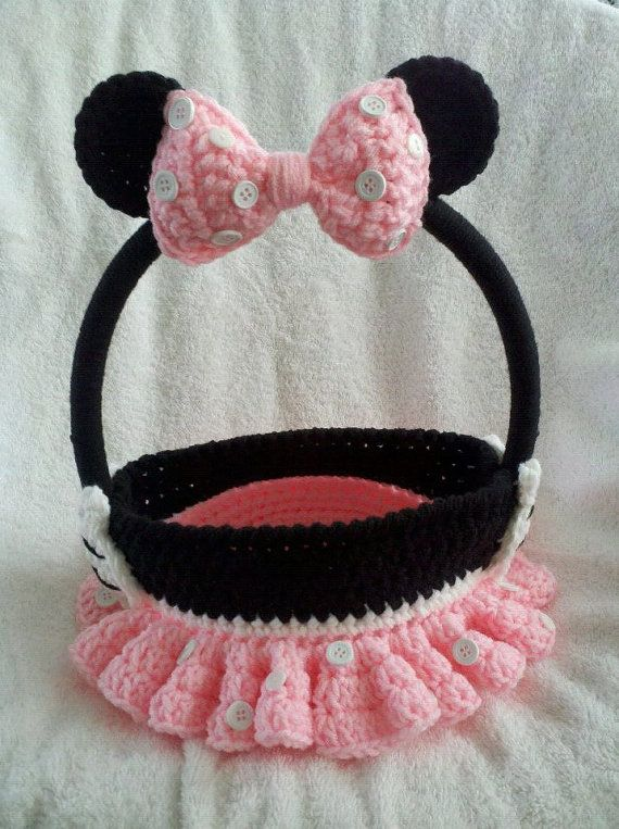Minnie Mouse Inspired Easter Basket Petal by PinkSnailBoutique ...