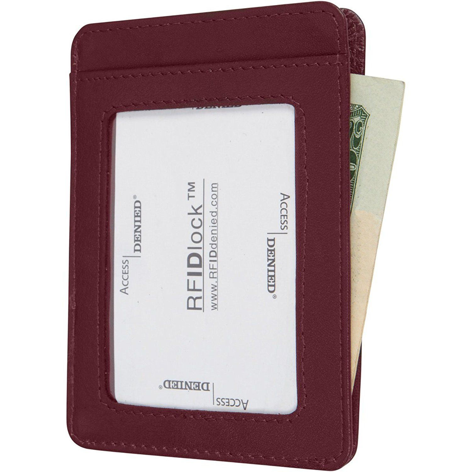 Access denied rfid blocking front pocket leather wallet mini slim access denied rfid blocking front pocket leather wallet mini slim card holder mulberry at reheart Gallery