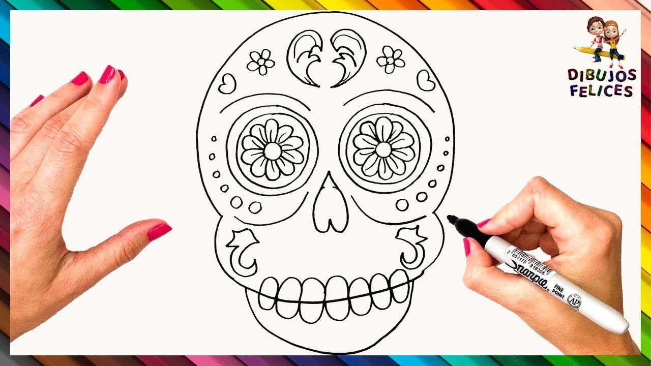 Como Dibujar Una Calavera Mexicana Paso A Paso Como Dibujar Una Calavera Calaveritas Mexicanas Calaveras Mexicanas Dibujos