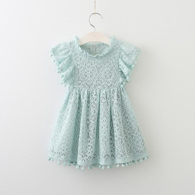 5eb8692cf3a Girls Dress 2018 New Summer Brand Girls Clothes Lace And Ball Design ...