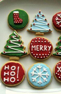 Amerikanische Weihnachtsplätzchen - Sugar Cookies mit Royal Icing #royalicingrecipe