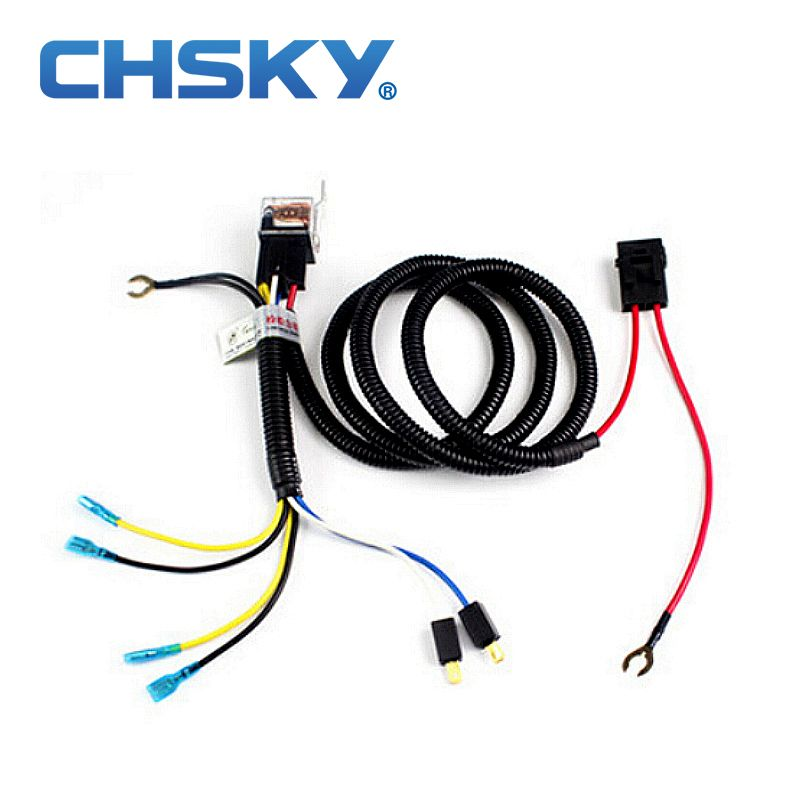 d8da95e18fd5b61b94481b6ba043f498 chsky car klaxon horn relay harness 12v car styling parts high Dune Buggy Wiring Harness Kit at n-0.co