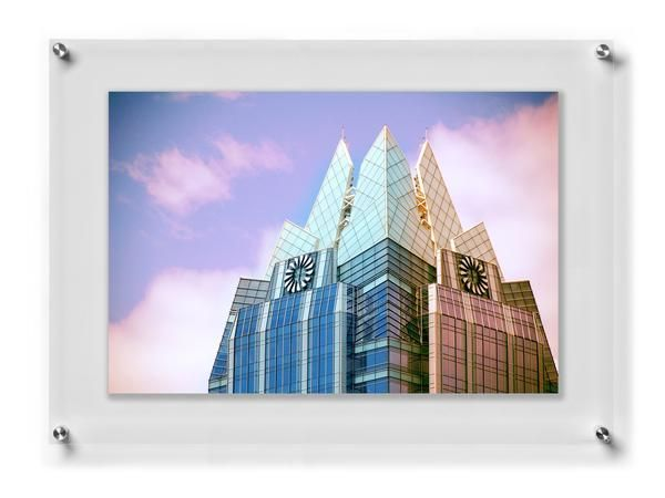 Double panel acrylic float frame 23\