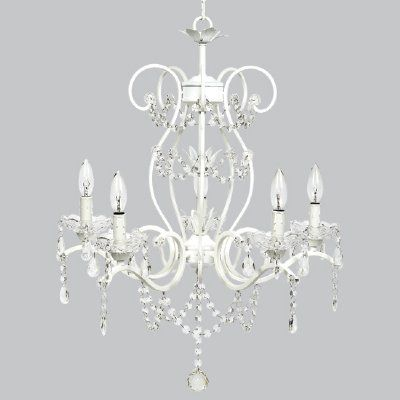 Girls Bedroom Decor White Chandelier Candle Styling Home Decor