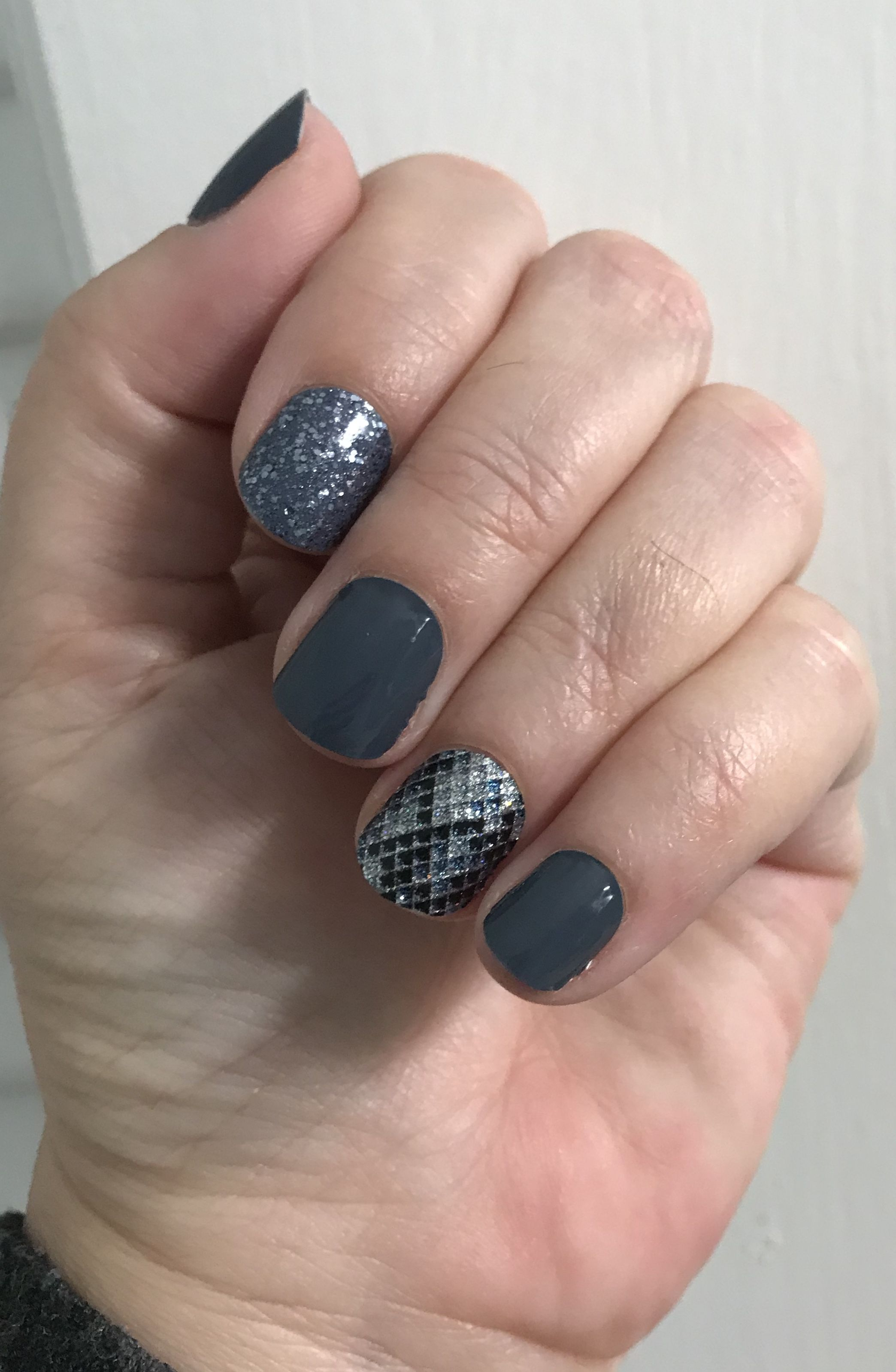 Color Street Polish strips. Steel City, Moon River and ...