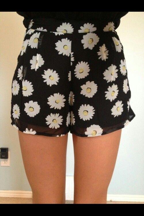 Short tecido florido