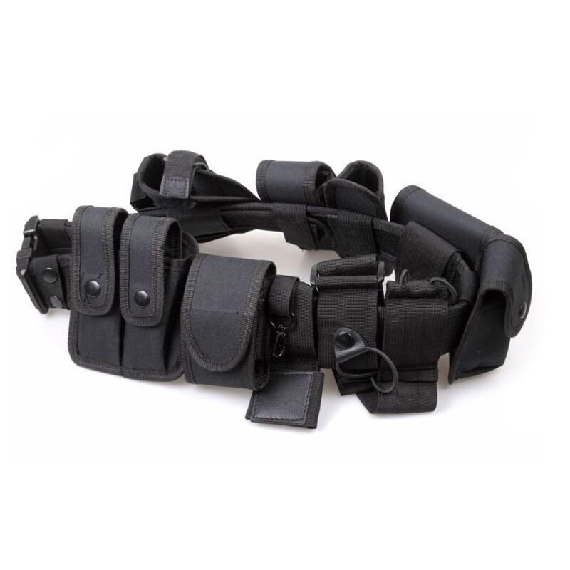 Police Security Guard Modular Enforcement Equipment Duty Tactical Belt 600 Nylon
