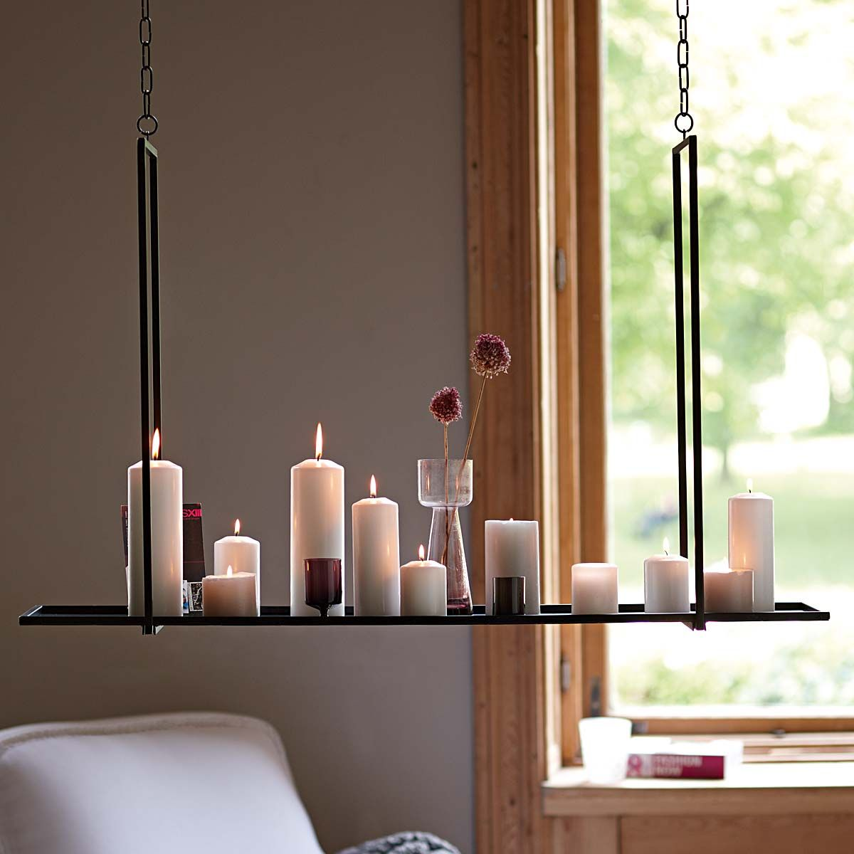 h ngende kerzen hanging candles impressionen moebel. Black Bedroom Furniture Sets. Home Design Ideas