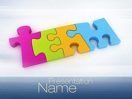 wwwpptstar powerpoint template team-puzzle  Team - puzzle powerpoint template