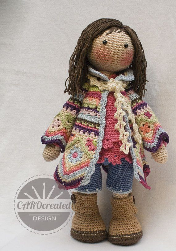 Crochet Pattern for Doll DAWN, pdf (Deutsch, English, Français, Nederlands, Español, Italiano) #beddollsandcrocheted1112sizedolldresses
