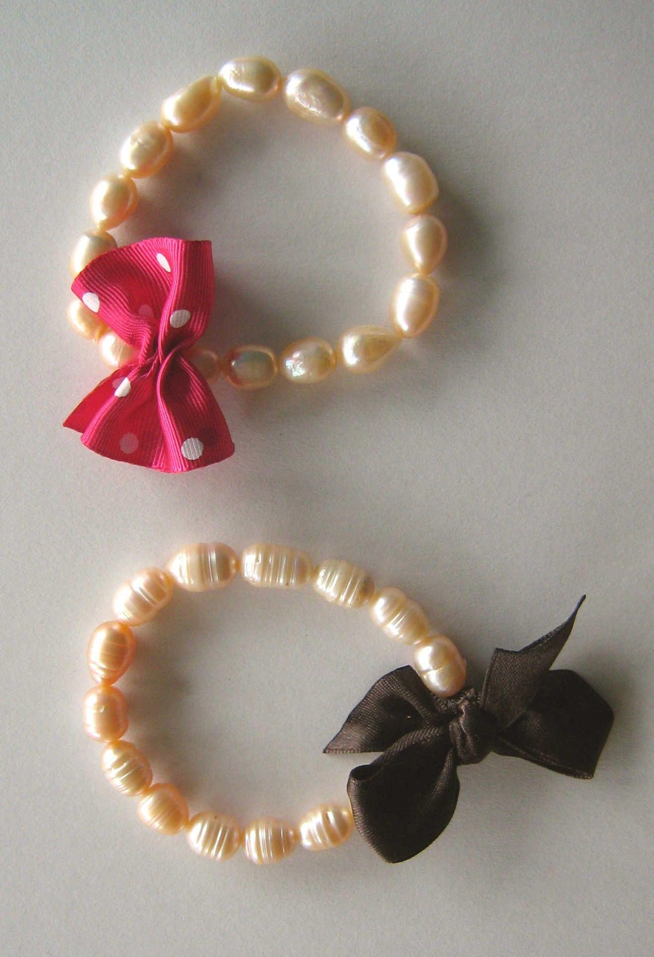 pulsera de perlas para bebe , Buscar con Google
