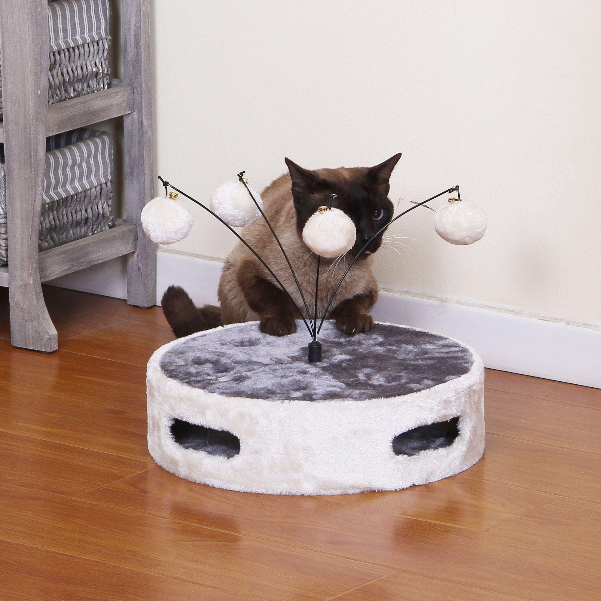 PetPals Calzone Ivory Round Fun Cat Toy Pet Stuff