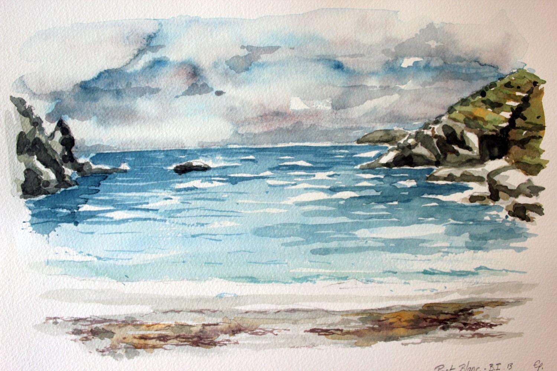 Belle Ile En Mer Aquarelle De Port Blanc Watercolor Paintings