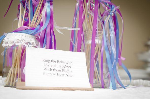 Ribbon Wands Wedding Diy Purple Reception Wand