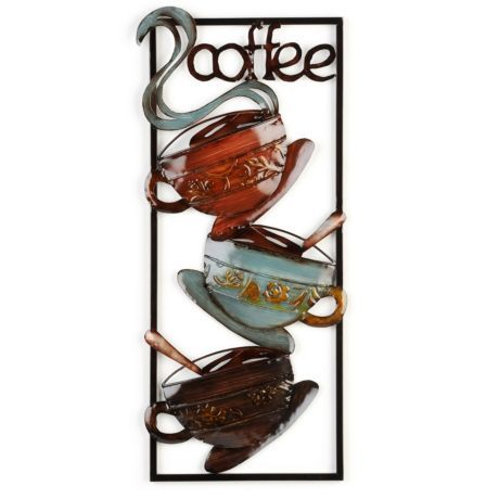 32749 Styles of Coffee Metal Wall Art Decor by