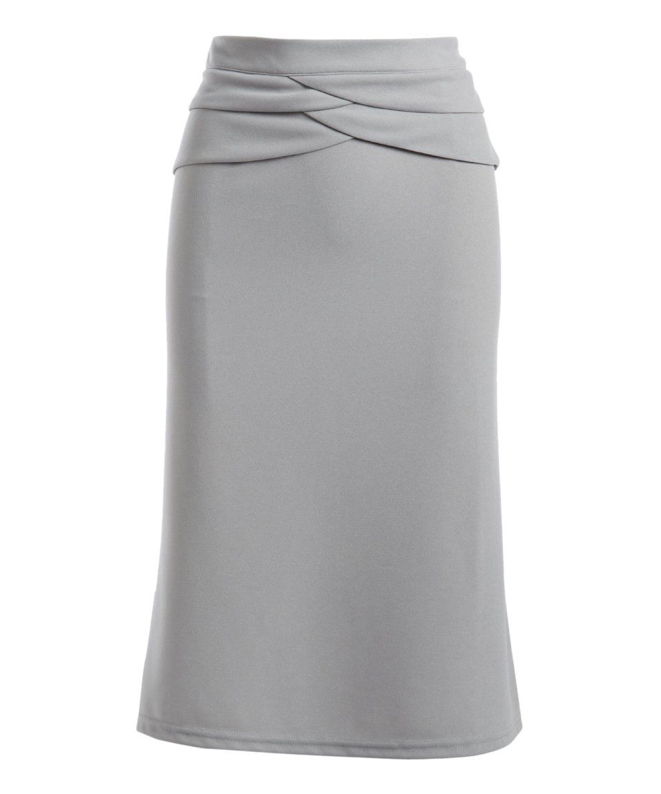Take a look at this Gray Pencil Skirt today!
