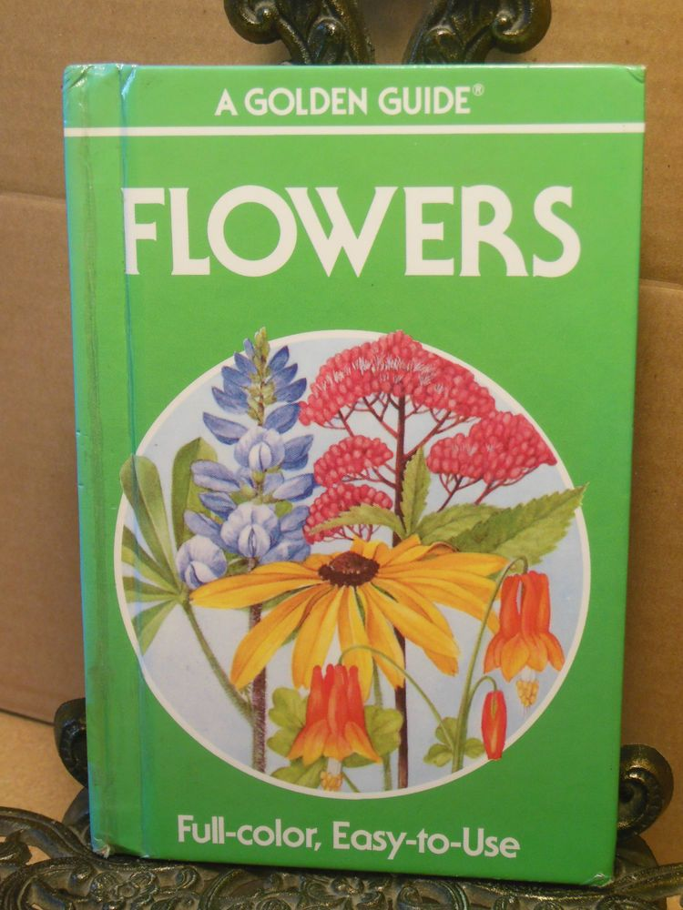 Flowers GOLDENCRAFT HARDCOVER Golden Guide Wildflowers Weeds Identify Zim Martin