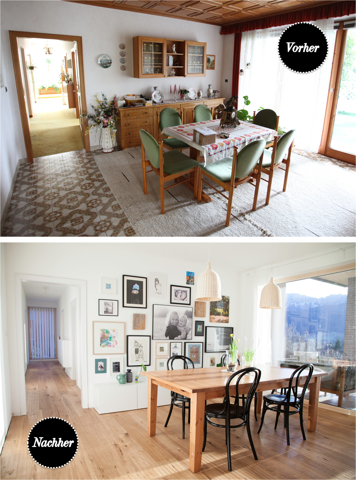 Len Esszimmer before and after dining room wohn projekt der tochter