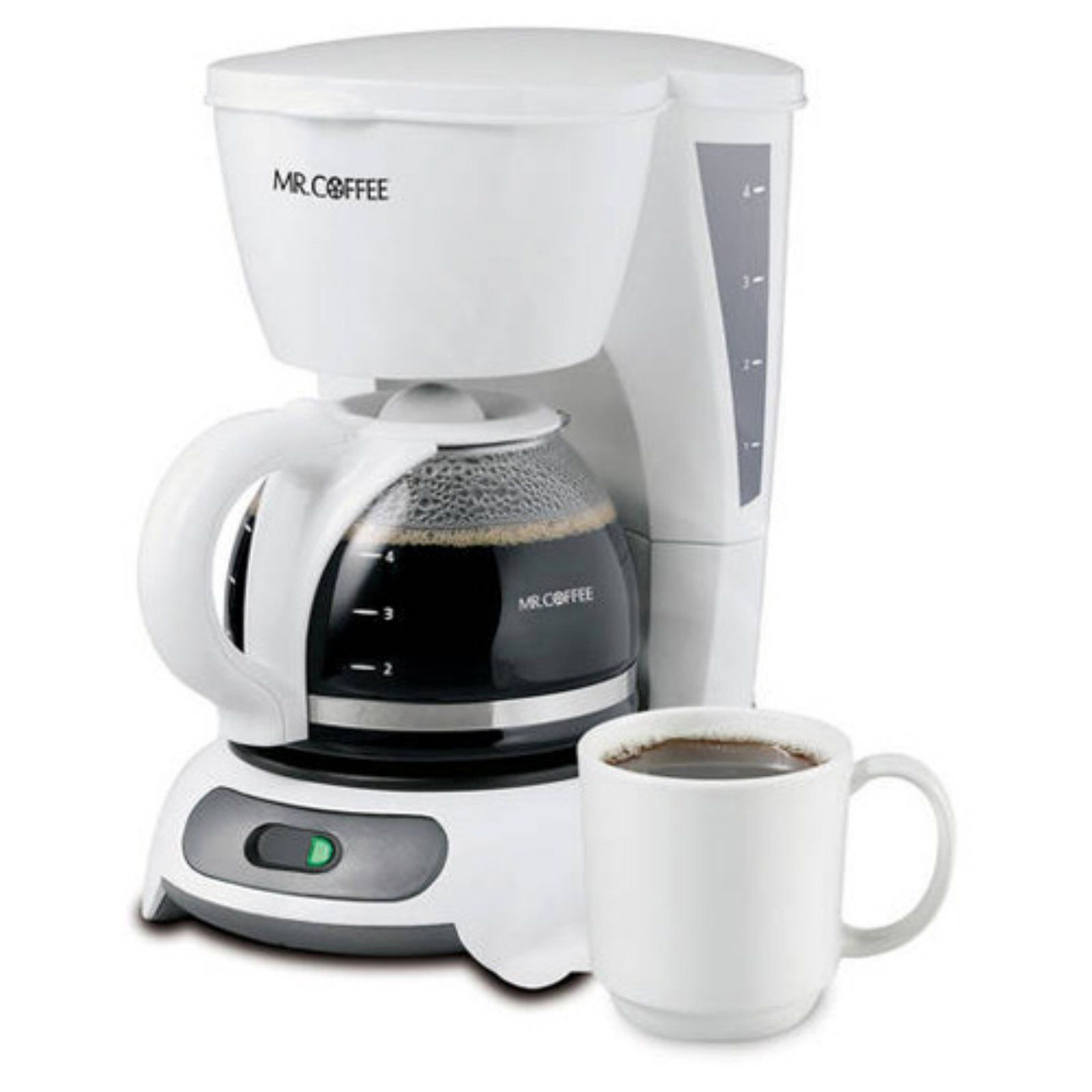 Mr Coffee 4 Cup Switch Coffee Maker White Tf4 In 2020 Cuisinart Coffee Maker Single Cup Coffee Maker Coffee Maker