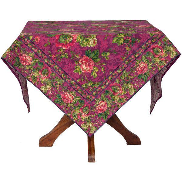 Tea Rose Tablecloth   Plum | Linens U0026 Kitchen, Tablecloths :Beautiful.
