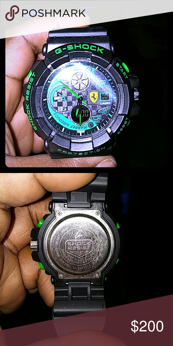 finest selection 83b7c 9f1a7 Ferrari edition g shock Black and green authentic g shock G-Shock  Accessories Watches
