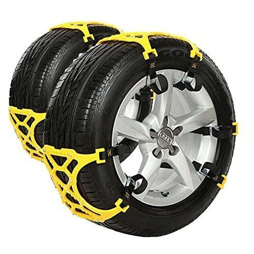Trac-Grabber Easy Install Blocks Strap To Your Vehicle Tires Snow A Chain // Snow Tire Alternative That Helps You Get Unstuck Set of 2 Mud and Sand Tire Traction Device for Trucks and SUVs