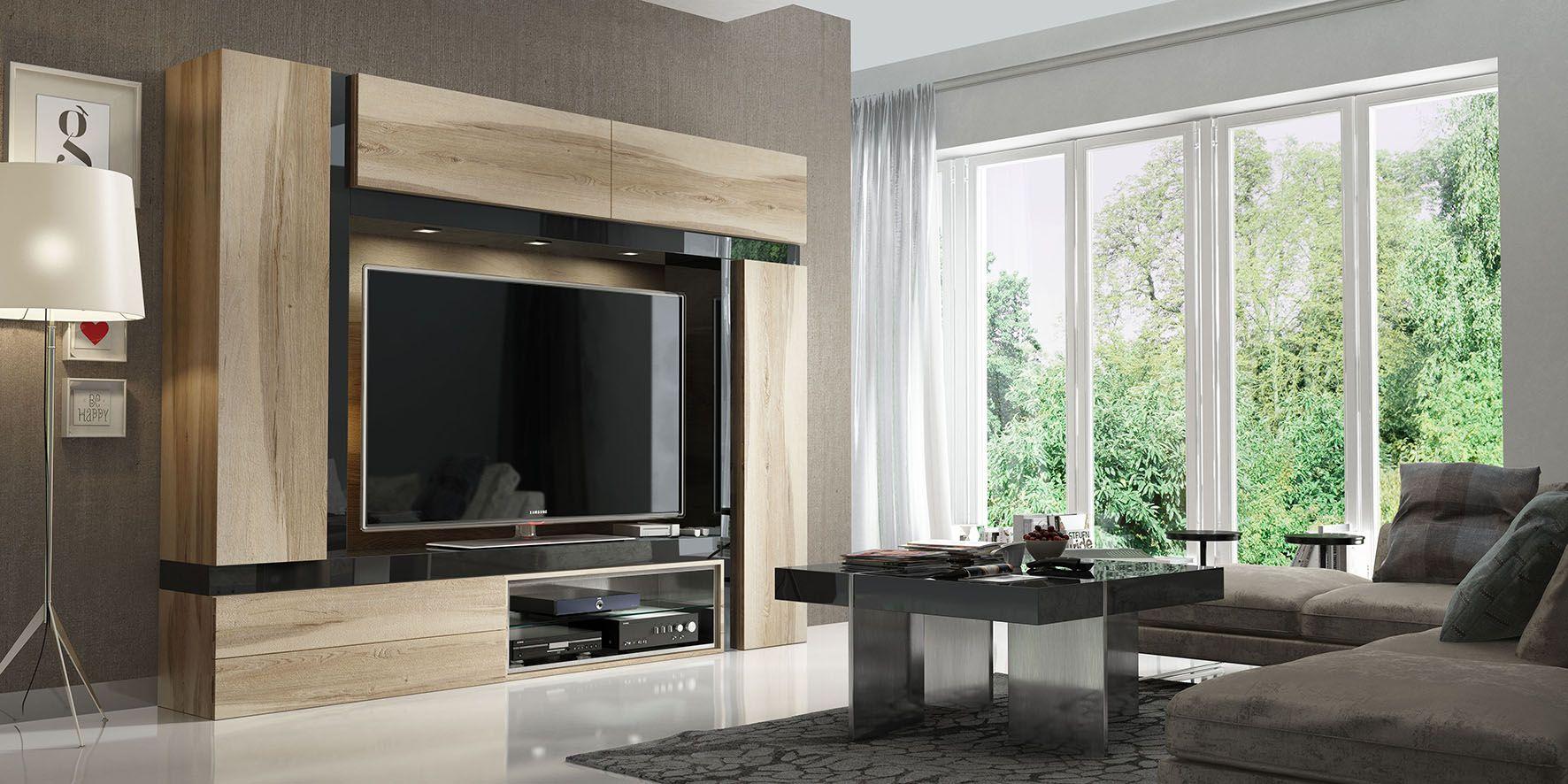 Muebles tv para sal n mueble tv tv y mueble compacto for Muebles de salon compactos
