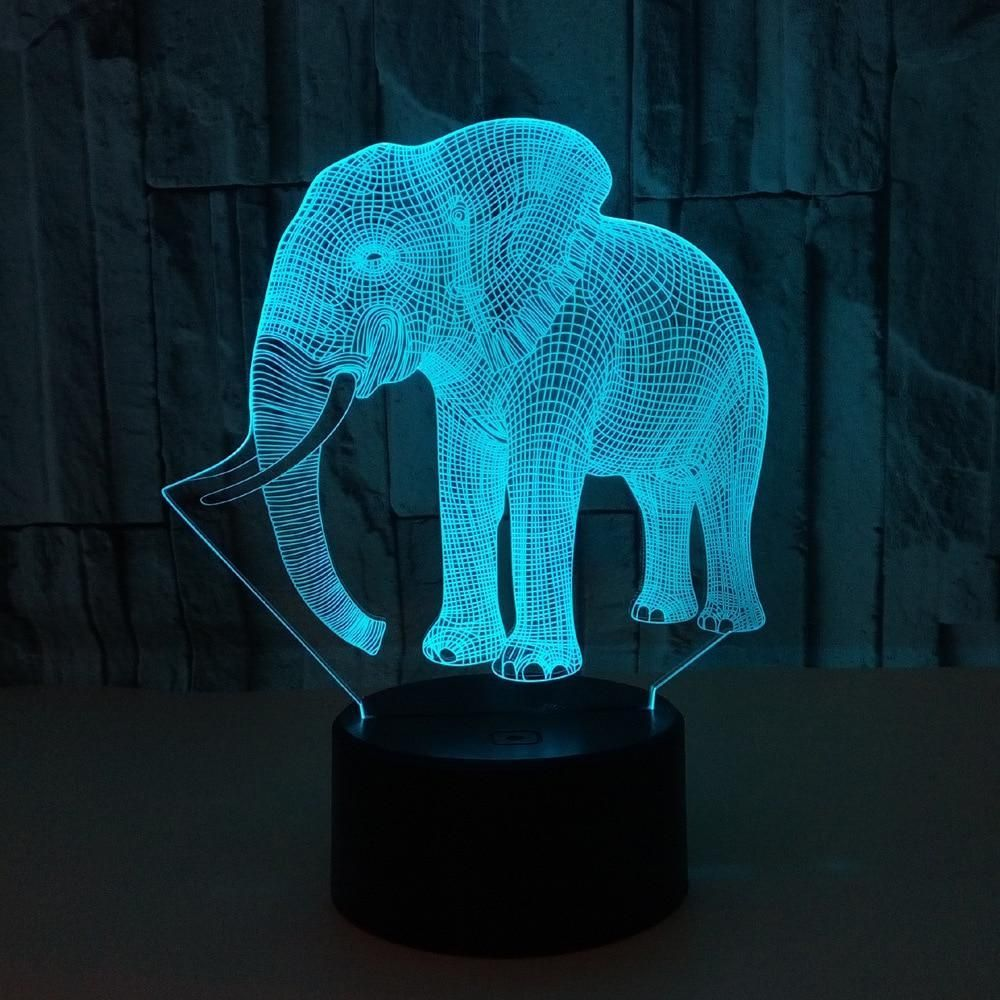 Gift For Boyfriend 7 Color Change 3d Hologram Lamp 3d Led Night Light Night Light Animal Lamp
