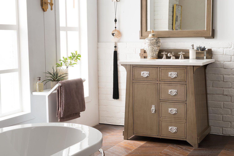 36 Pasadena Warm Taupe Single Bathroom Vanity James Martin Vanities Vanitiesdepot Com Single Bathroom Vanity Bathroom Vanity Vanity