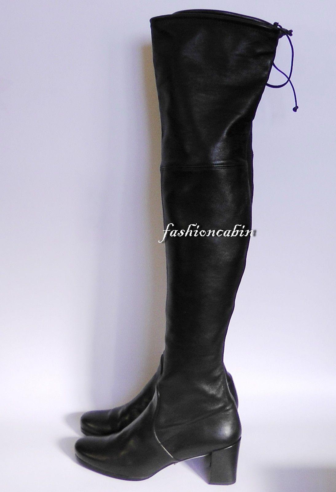 9d723d3b990  🍏51% OFF Stuart Weitzman Tieland Leather Over the Knee Boot Shoe~sz8~MSRP   875