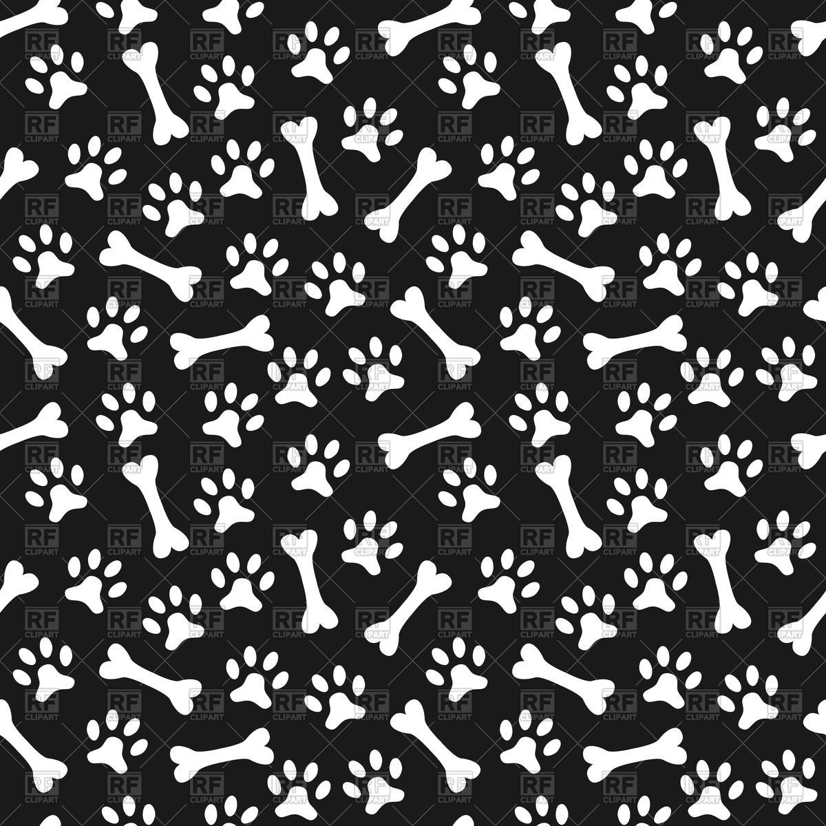 Dog Print Wallpaper dog print paper background with dog paw print and bone stock | hd