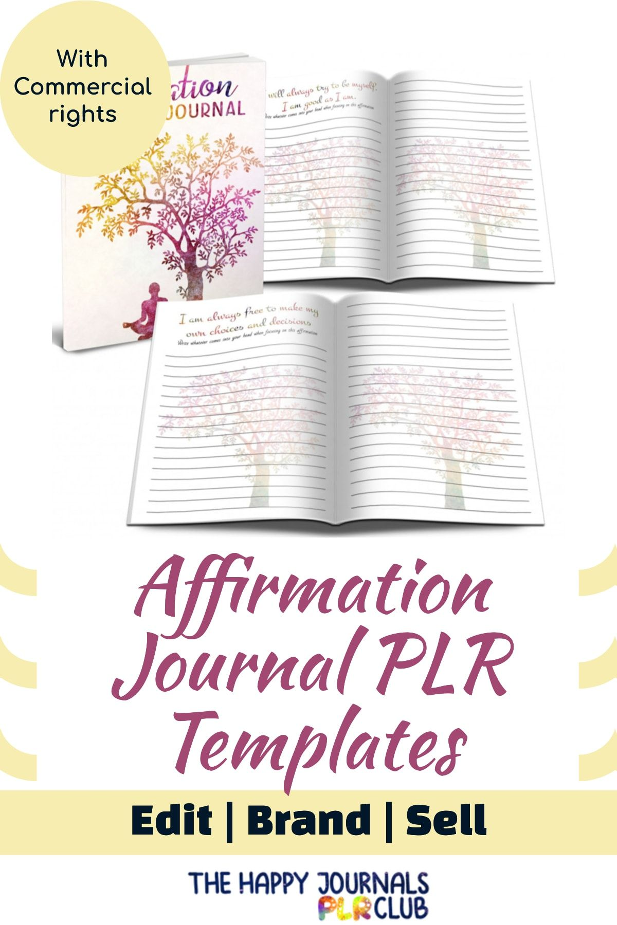 The Affirmation Journal Plr Templates Give You Everything