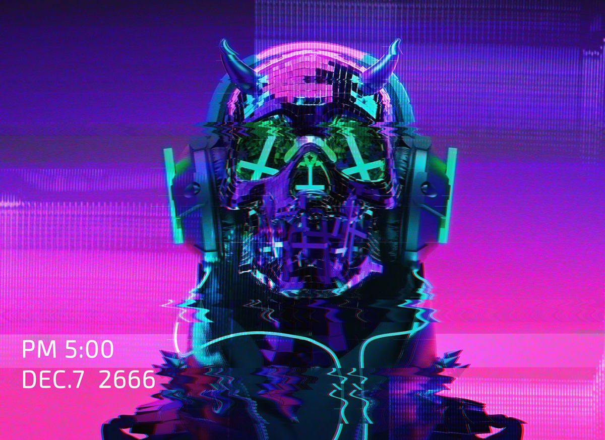 Auʇıɔɥɹısʇ on Behance   Retrowave in 2019   Cyberpunk art, Robot