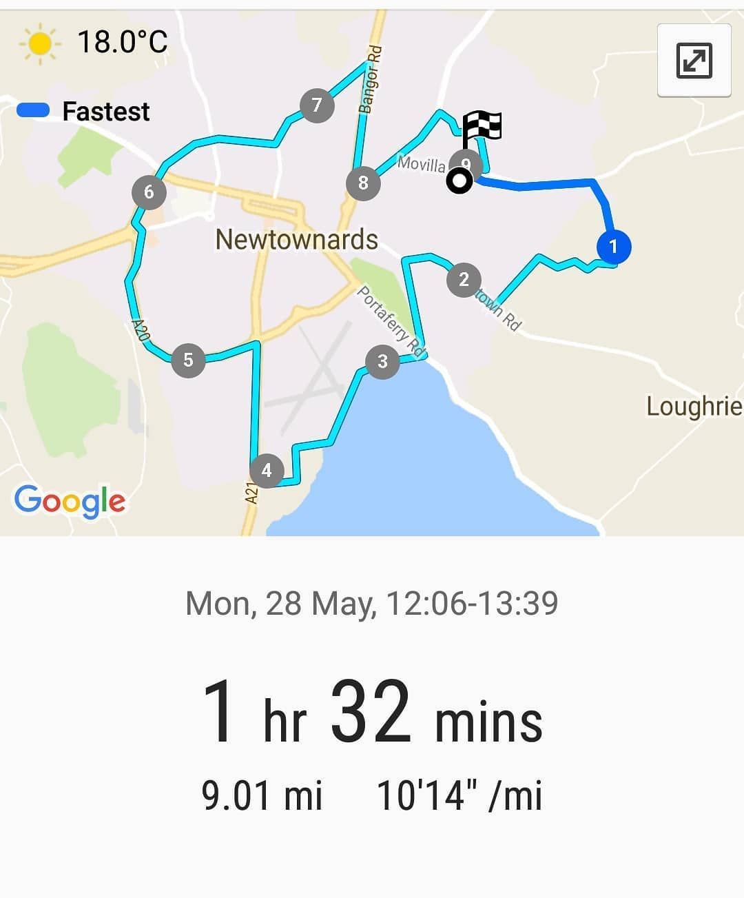 Couch To 5k Newtownards Safe To Say The Weather Beat Me Today 9miles Done Last 2 Were