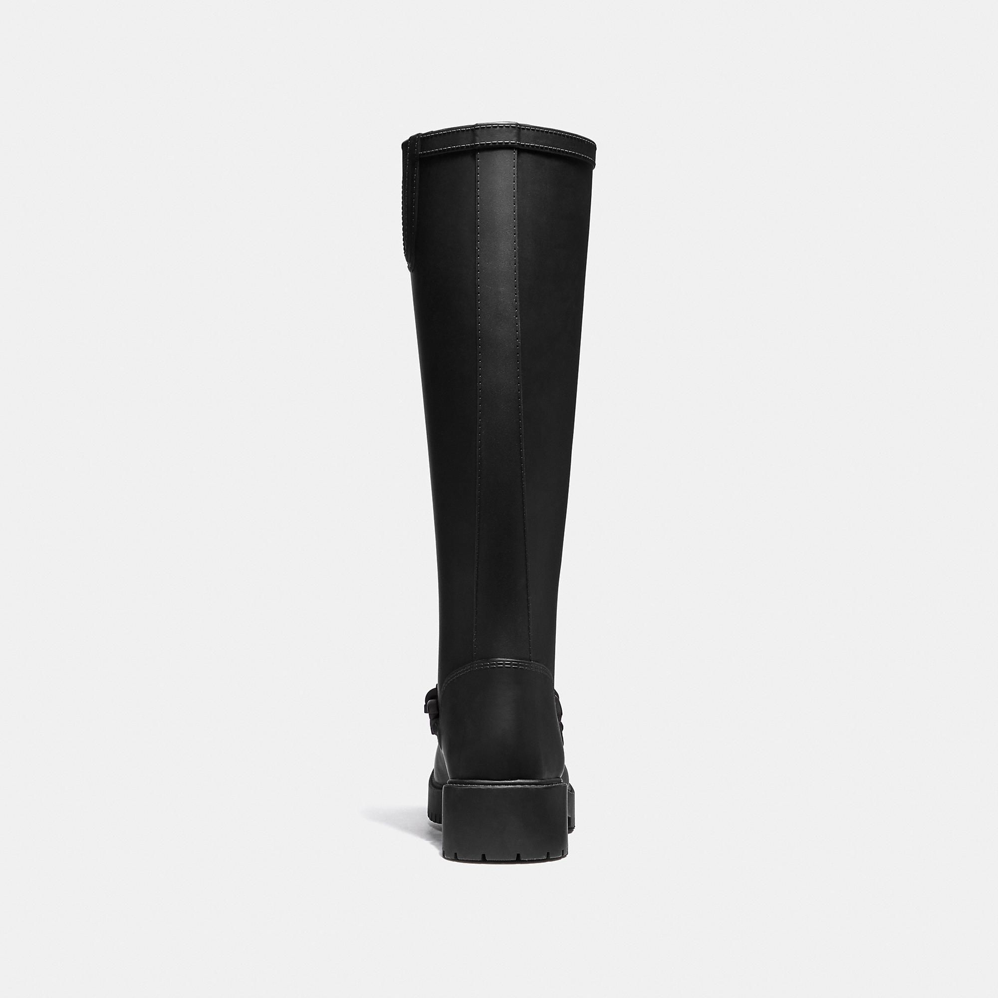 33ec24e7 COACH Westerly Tall Rain Boot - Women's Size 9 | Products | Boots ...