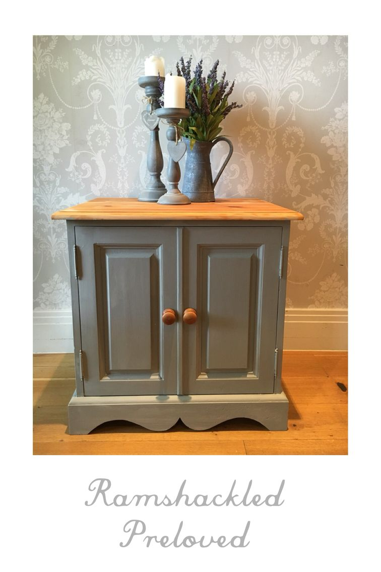Hand Painted In Frenchic ️ Grey Pebble Solid Pine
