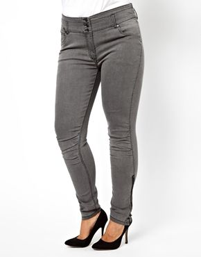 ASOS - Carmakoma Skinny Jean With Side Zip Detail