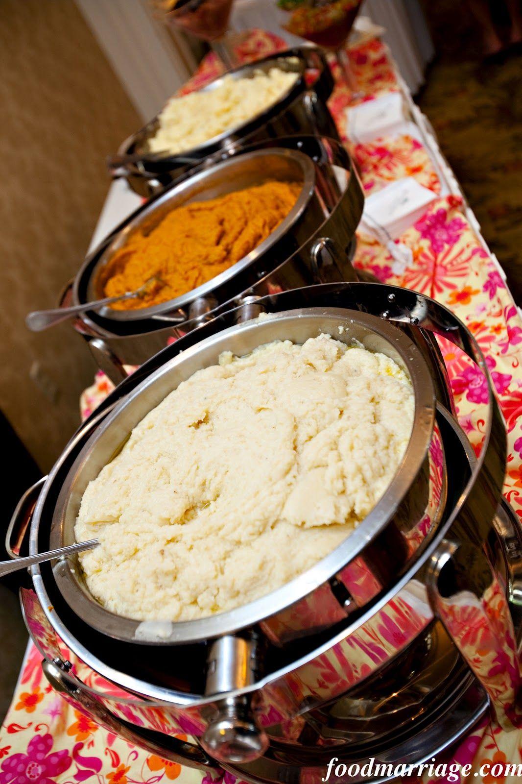 Wedding Idea Mashed Potato Martini Bar Food Marriage Recipes
