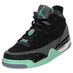 uk availability c7f72 ccd5b Men s Jordan Son of Mars Low Basketball Shoes   FinishLine.com    Black Green Glow Anthracite Cement Grey