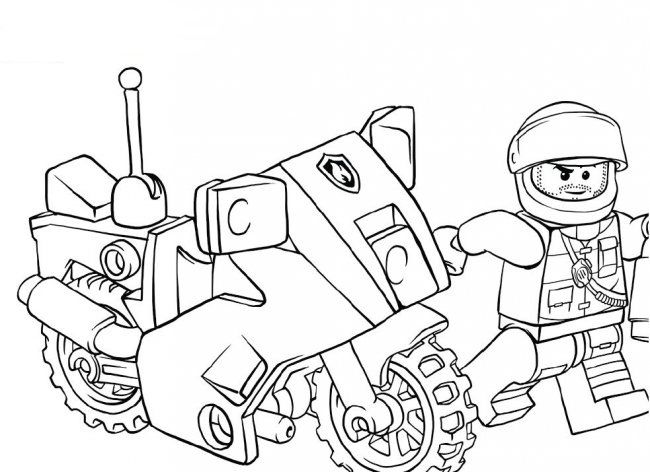 Coloring Pages Lego City In Cartoon Style