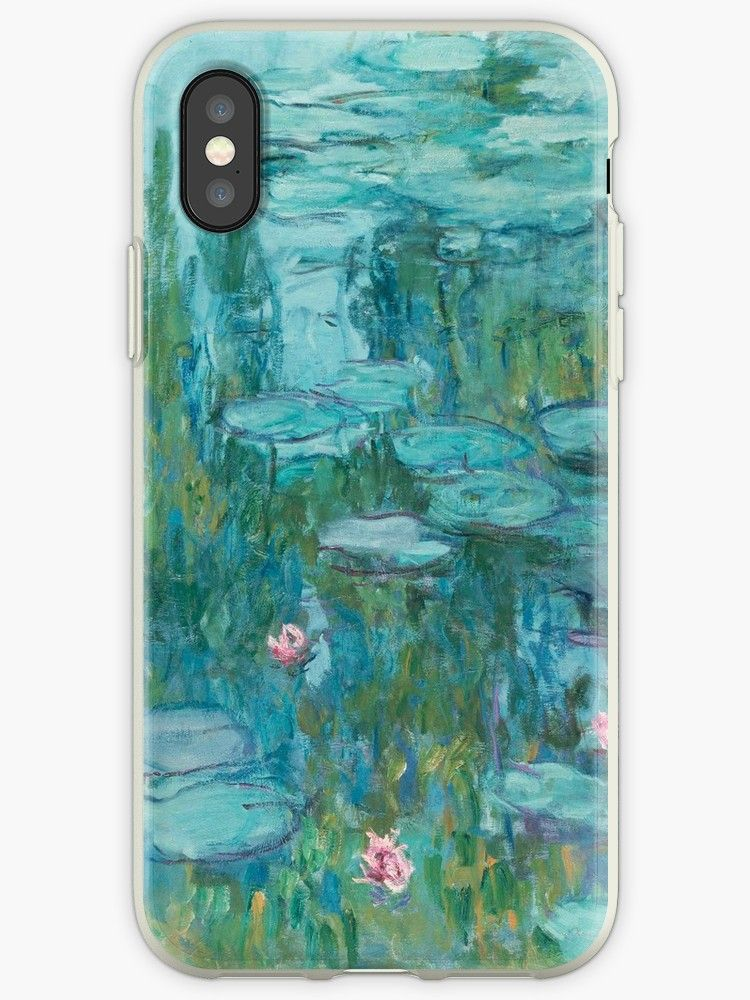the latest 41dd9 b58ee Claude Monet - Water Lilies' iPhone Case by ArgosDesigns in 2019 ...