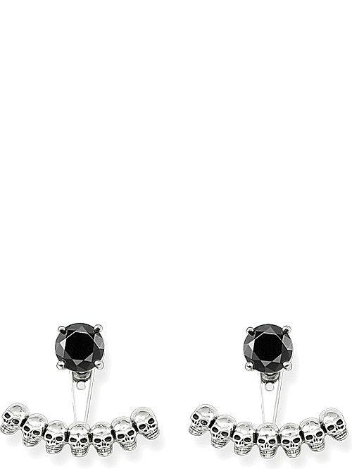 f4ee361ac THOMAS SABO Sterling silver skull and black onyx ear jackets | J ...
