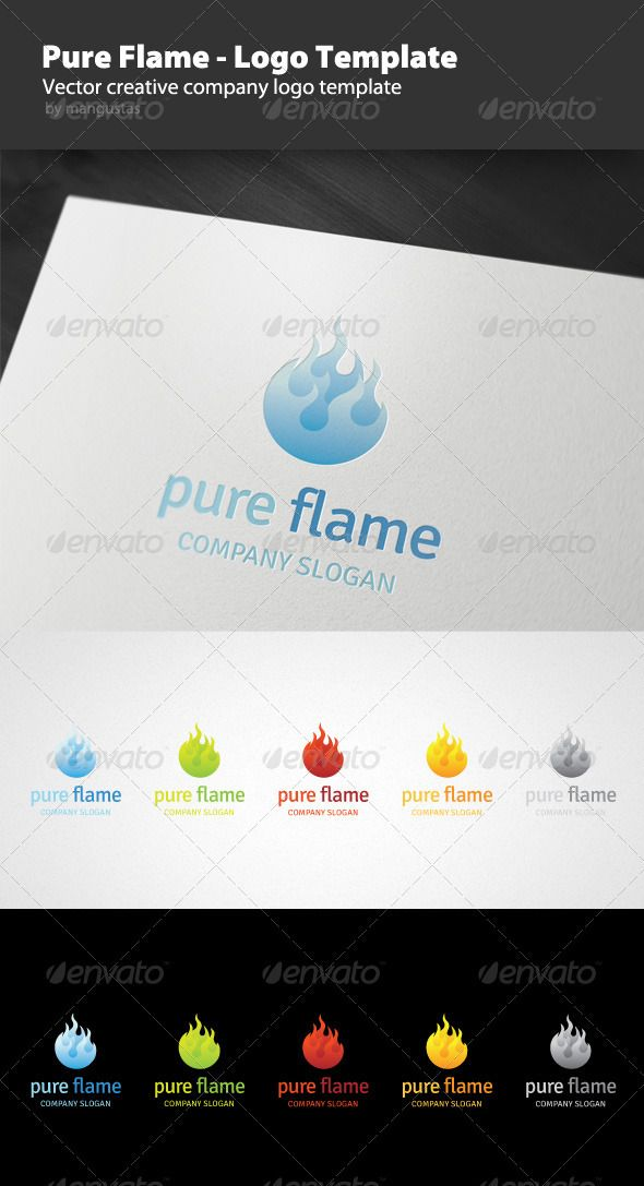 pure flame logo template flash animationlogo