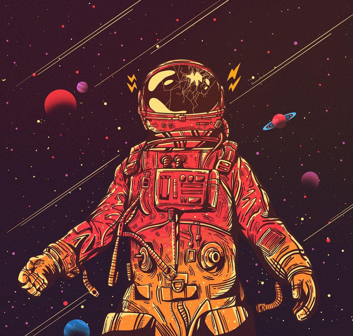 Космонавт крутые четкие картинки для логотипа, год