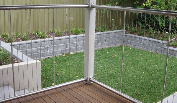 stainless steel wire rope fence / cable railings | fence ...