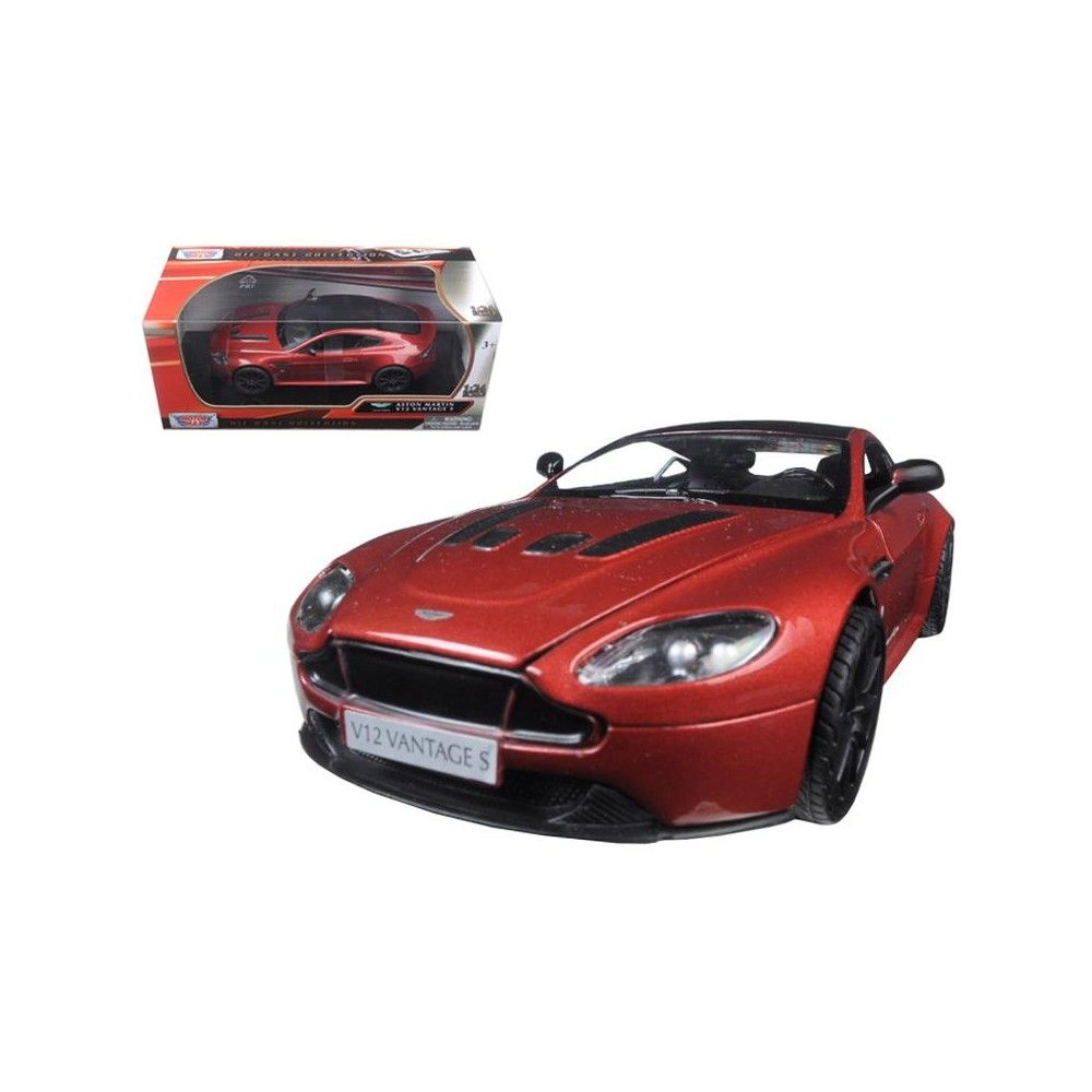 Aston Martin Vantage S V12 Red 1/24 Diecast Model Car By