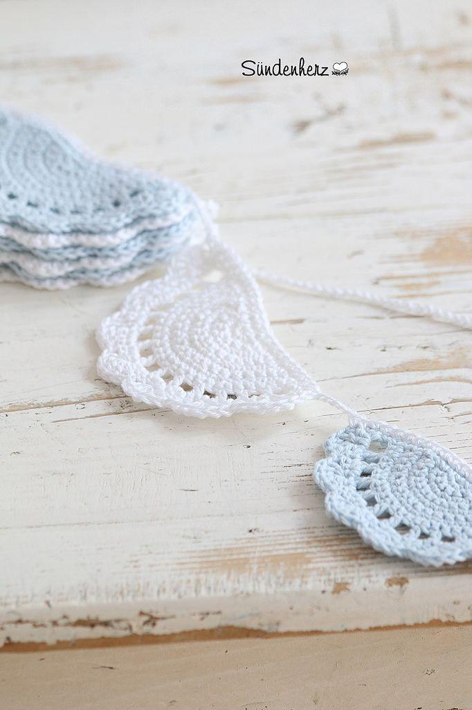Crochet Garland | Guirnaldas, Banderin y Capitán garfio