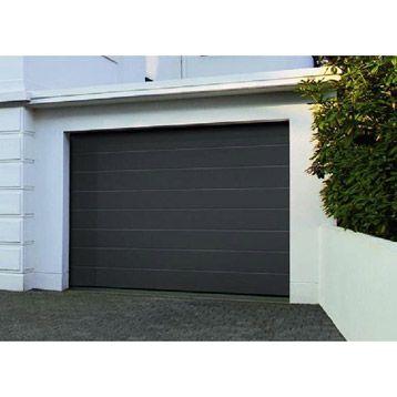 Porte De Garage Sectionnelle Acier Gris Titane ARTENS X Cm - Porte de garage sectionnelle avec porte de service pvc sur mesure leroy merlin